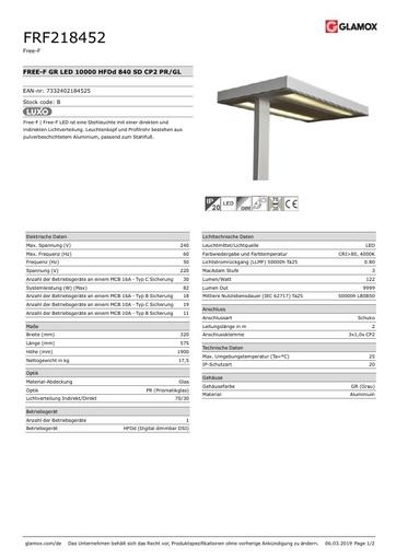 Glamox-Luxo Stehlampe Free-F LED