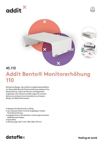 Dataflex Addit Bento Monitorerhöhung 110