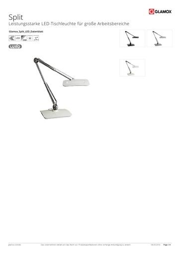 Glamox-Luxo Arbeitsplatzlampe Split LED