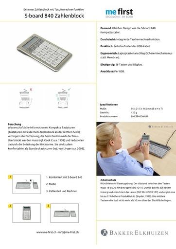 Bakker Elkhuizen S-Board 840 Zahlenblock