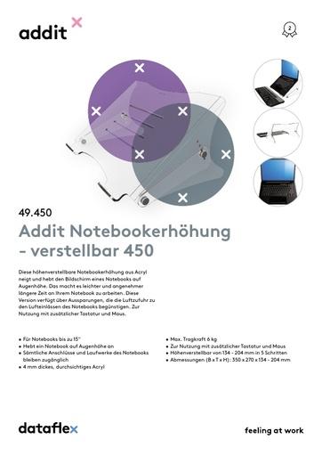 Dataflex Addit Notebookerhöhung