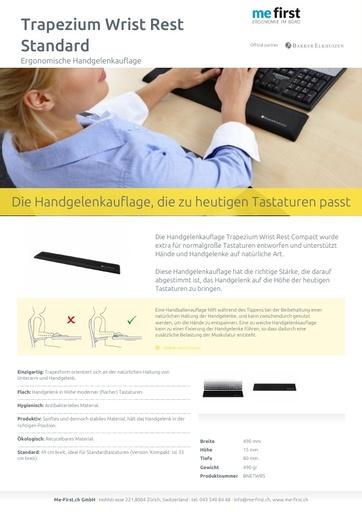 Bakker Elkhuizen Trapezium Ergo Tastatur-Handgelenkauflage Standard