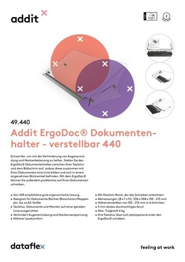 Dataflex Addit ErgoDoc Dokumentenhalter